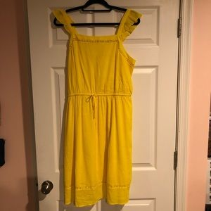 Yellow Sundress with Ruffle Sleeves